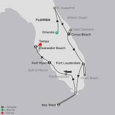 Map Of Fort Lauderdale Florida by Florida Vacation W Clearwater Beach Stay Cosmos Travel