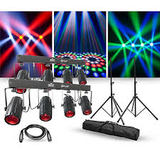 guitar center dj lights chauvet dj lighting package with two 4play led effect lights stands