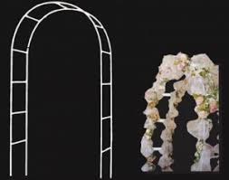 wedding arches canada white metal wedding arch 55 w x 90 h
