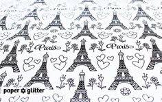 eiffel tower wrapping paper vintage brown text parchment paper parchment paper