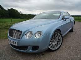bentley coupe blue used silver lake blue metallic bentley continental gt for sale