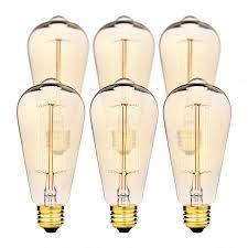 Chandelier Light Bulbs Edison Light Bulbs By Deneve Deluxe 6 Pack Thomas Edison 60w