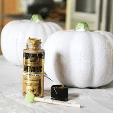 gold u0026 white painted pumpkins three different ways u2013 at home