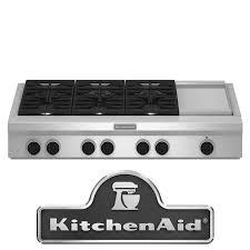 48 Gas Cooktops Kitchenaid Kgcu483vss 48