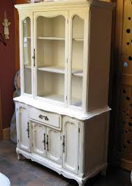 cotton picker white china cabinet in chalk paint