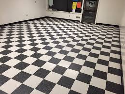 commercial vct flooring black and white barbershop pattern and