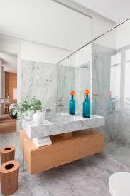 Bathroom Design Idea An Open Shelf Below Countertop 17