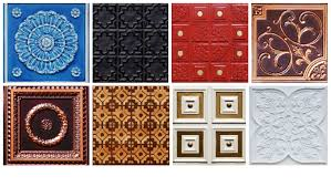 ceiling stunning faux tin ceiling tiles with more various design