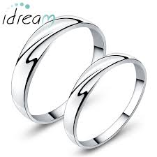 promise ring sets for him and simple wave promise rings for couples personalized polished