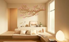 Home Interior Color Design Peach Colour On Sitting Room Wall Monochromatic Rooms On Split