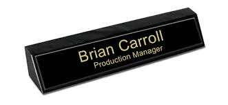 Name Plate Desk Black Marble Desk Name Plate Black Metal Name Plate With Gold