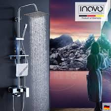 luxurious milano rain shower set with bath storage design 160