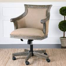 linen desk chair uttermost kimalina linen office chair hayneedle