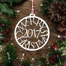 papercut template u0027merry christmas 2017 u0027 bauble