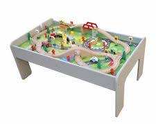 wooden train set table train table ebay