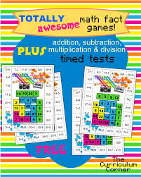 Free Math Facts Worksheets 80s Themed Mixed Math Facts Games Plus X U0026 Timed Tests