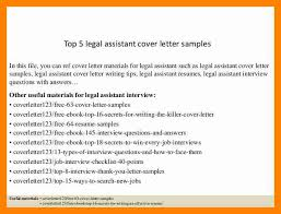 legal assistant cover letter efficiencyexperts us