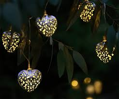 String Lights Uk by Set Of 12 Moroccan Solar String Lights Hearts Auraglow Led