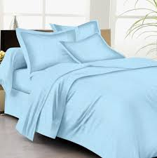 buy bed sheets with stripes 200 thread count sky blue online in