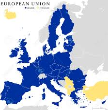 California Map Outline European Union Countries Political Map Outline With National