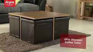 coffee table black leather ottoman coffee table round