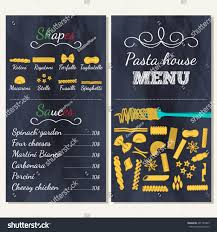 italian food menu restaurants banners gastronomy stock vector
