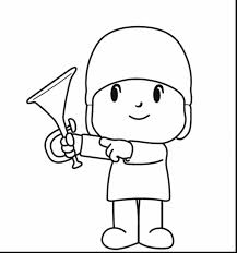 surprising printable paper doll coloring pages with pocoyo