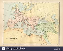Roman Map Map Of The Roman Empire In Ad 117 Stock Photo Royalty Free Image