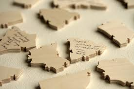 large wooden pieces wedding guest book puzzles how many pieces do i order
