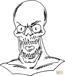 coloring scary monster coloring pages