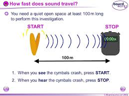 how fast does sound travel images Ks4 physics waves sound ppt video online download jpg