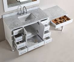 makeup vanity with sink 48 london single sink vanity set in white finish with one make up