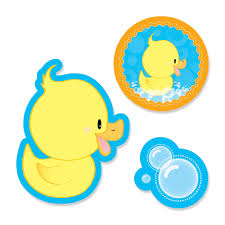 baby shower paper ducky duck shaped party paper cut outs bigdotofhappiness