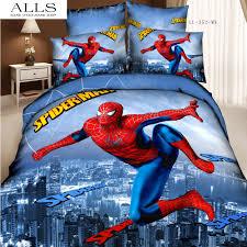 spiderman bedding set 3d oil painting 100 cotton cartoon children