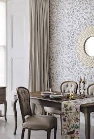 31 best dining room images on pinterest dining room table and pair sophisticated and vintage inspired dining room table and chairs with floral wall paper and table
