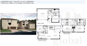 champions gate floor plans cambridge golf villa s champions gate floor plan