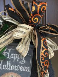 2017 glitzy halloween wreath tutorial trendy tree blog holiday