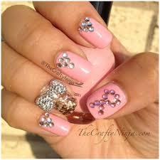 think pink nails the crafty ninja