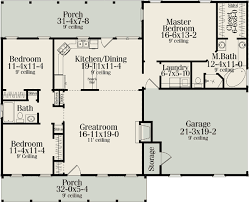 ranch floor plans with split bedrooms plan 62099v split bedroom country ranch country houses ranch