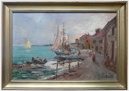 peinture de bord de mer r u rinaldi paysages de bord de mer antiquités catalogue