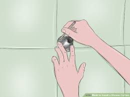 How To Install Shower Curtain How To Install A Shower Curtain 15 Steps With Pictures