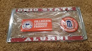 ohio alumni license plate frame officially licensed ohio state buckeyes alumni metal license plate