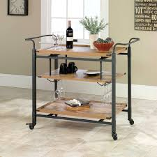 sundance kitchen cart with stainless steel top black walmart com better homes and gardens rustic country bar cart pine finish with kitchen island