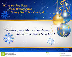 new year greetings card new year greeting card in german and stock vector