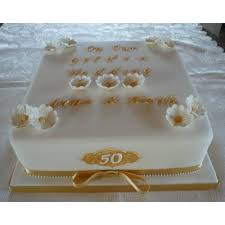 golden wedding cakes 10 square golden wedding cake celebration cakes by carol