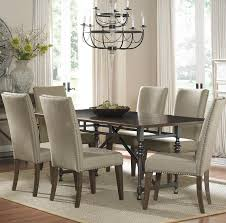 Upholstery For Dining Room Chairs Upholstered Dining Room Chairs With Nailhead Trim