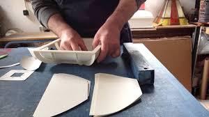 cuisine mansard l habillage du couvercle en creux de la boite mansard cartonnage
