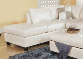 Storage Ottoman White by Bonded Leather Modern Sectional Sofa W Storage Ottoman