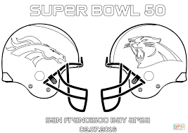 super bowl 50 carolina panthers vs denver broncos coloring page