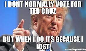 Cruz Meme - i dont normally vote for ted cruz but when i do its because i lost